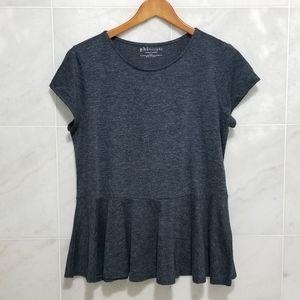 Philosophy Heather Grey Peplum Tee Shirt